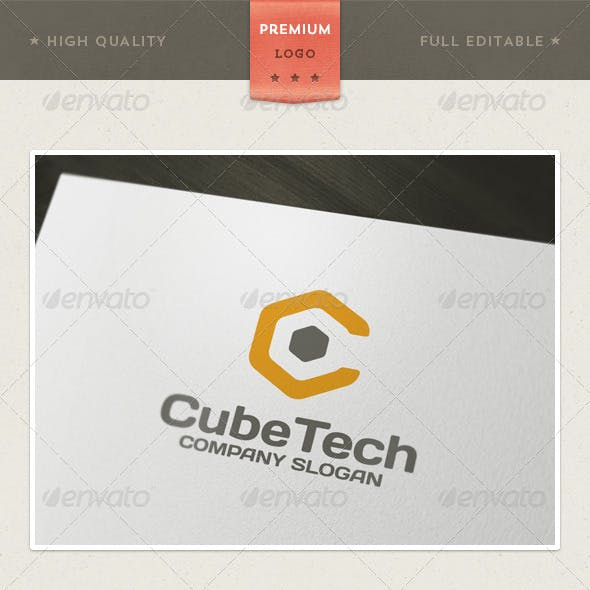 Cube Tech Logo Template