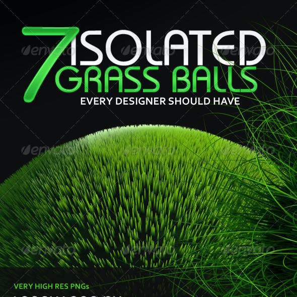 7 Isolated Grass Balls