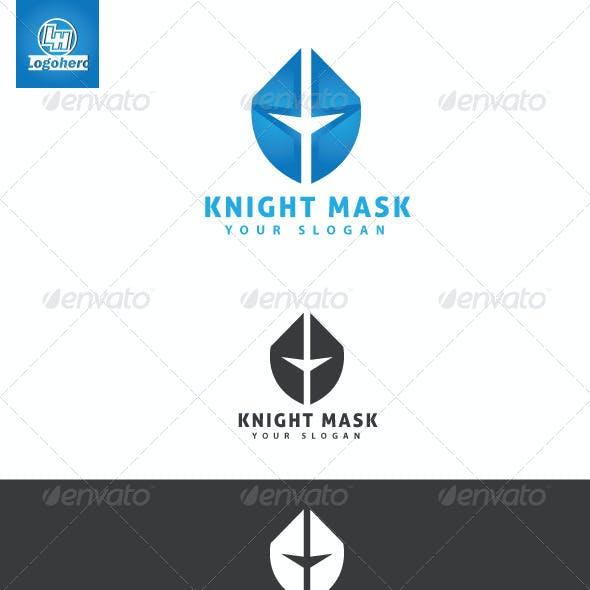 Knight Mask Logo Template