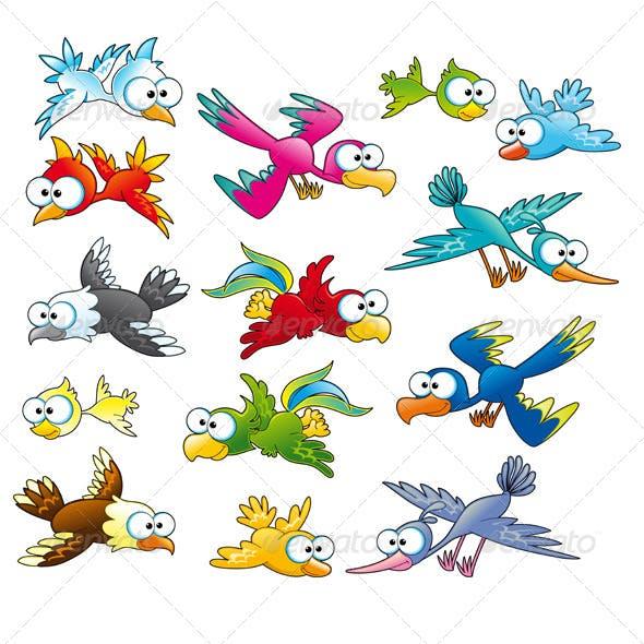 Family of Funny Birds