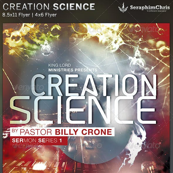 Creation Science: Church Flyer Template