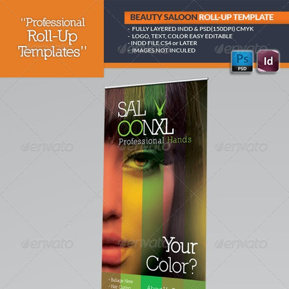 Beauty Salon Roll-Up Template