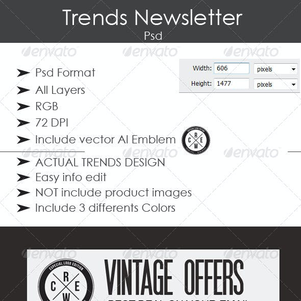 Trends Newsletter Design