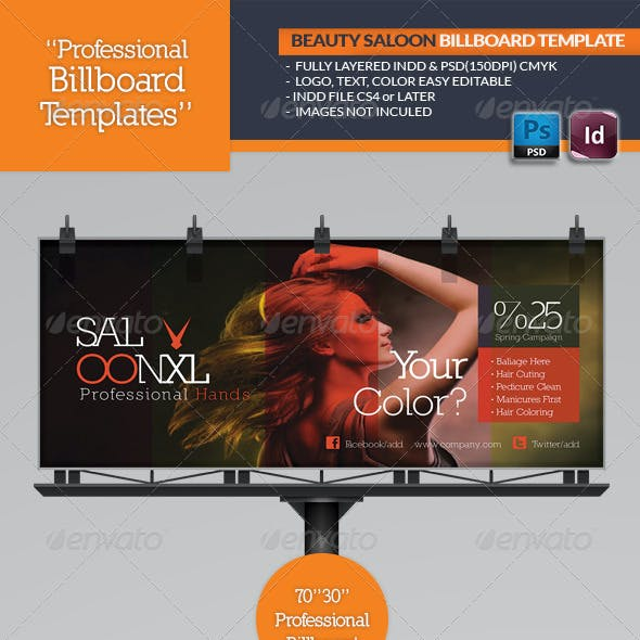 Beauty Saloon Billboard Template