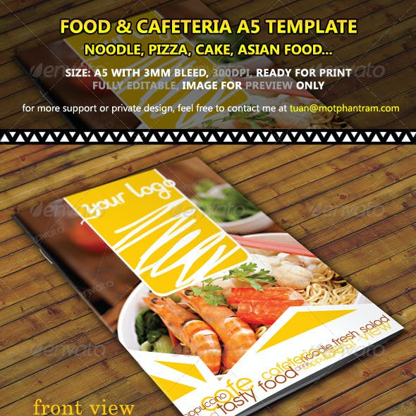 Restaurant Menu A5 Fold Vol 1