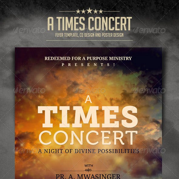 A Times Concert Flyer