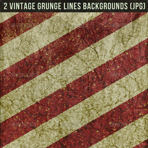 2 Vintage Lines Backgrounds