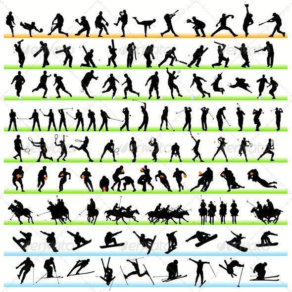 Sport Silhouettes Set - Sports/Activity Conceptual