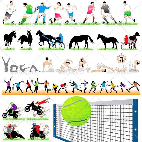 44 Sport Silhouettes Set - Sports/Activity Conceptual