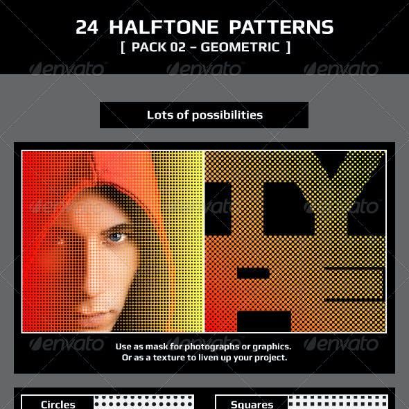 24 Halftone Patterns – Pack 02 – Geometric