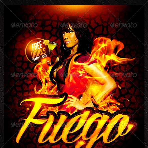 Fuego Saturdays Flyer Template