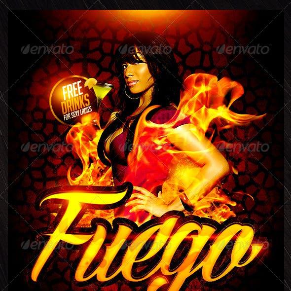 Fuego Saturdays Flyer Template