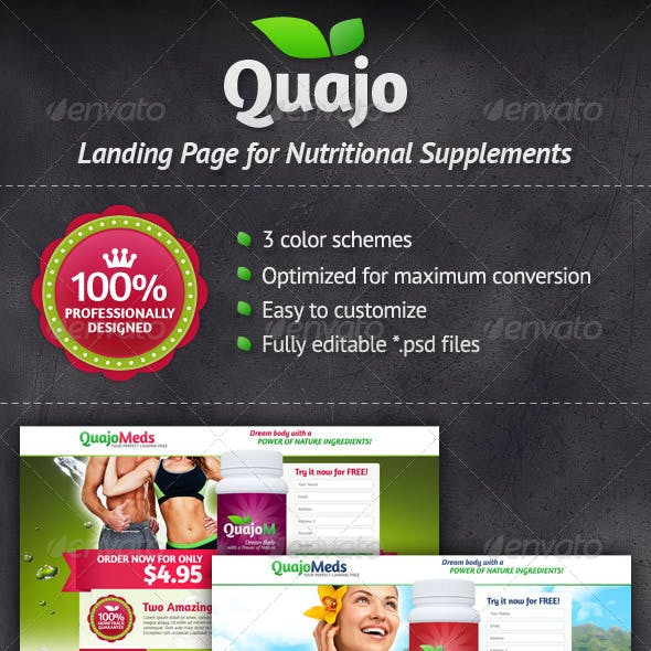 Medical Supplements Landing Page