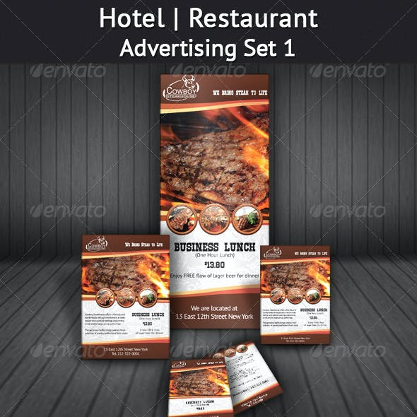 Hotel | Restaurant Advertising Set 1