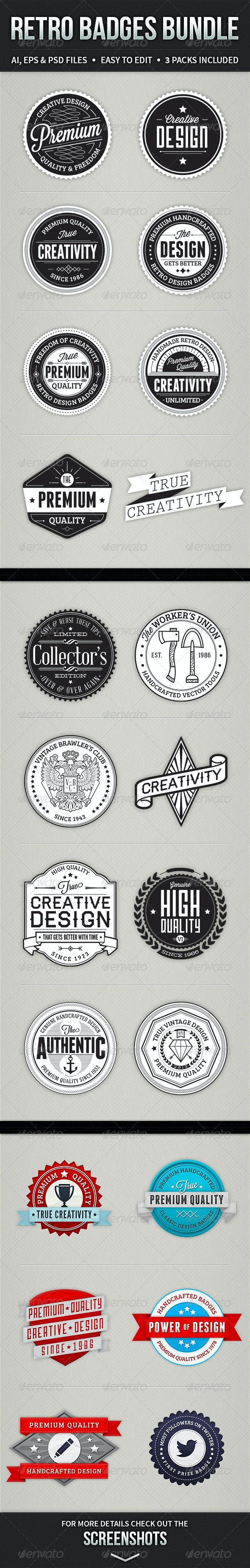 Retro Badges Bundle