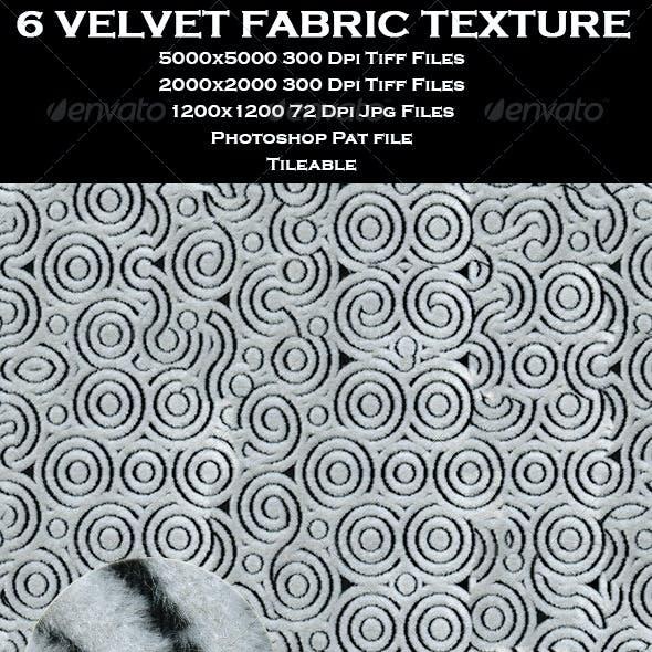 6 Velvet Fabric Texture