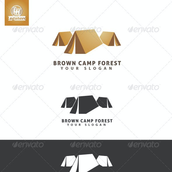 Brown Camp Forest Logo Template