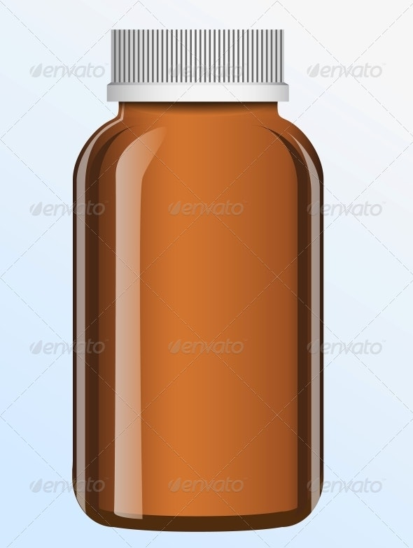 Vector Bottle  - Health/Medicine Conceptual