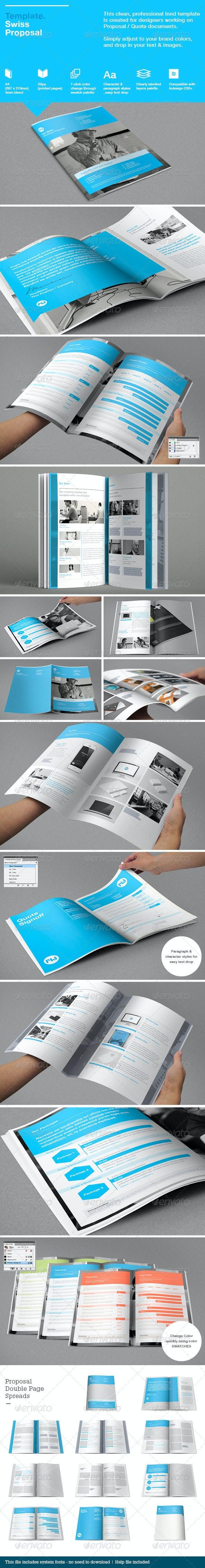 Swiss Proposal Template - Brochures Print Templates
