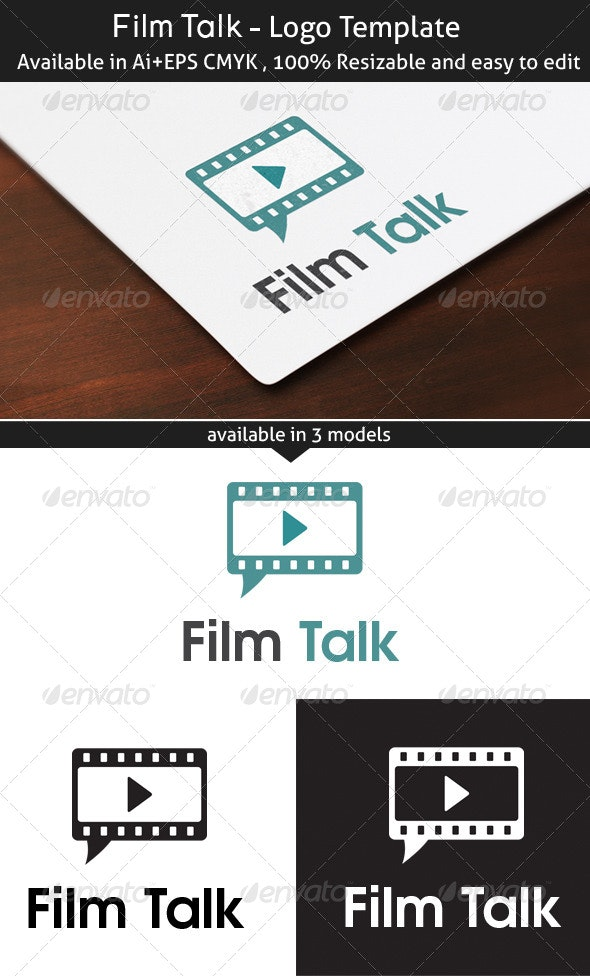 Film Talk - Symbols Logo Templates