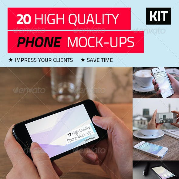20 High Quality Phone Mock-Ups