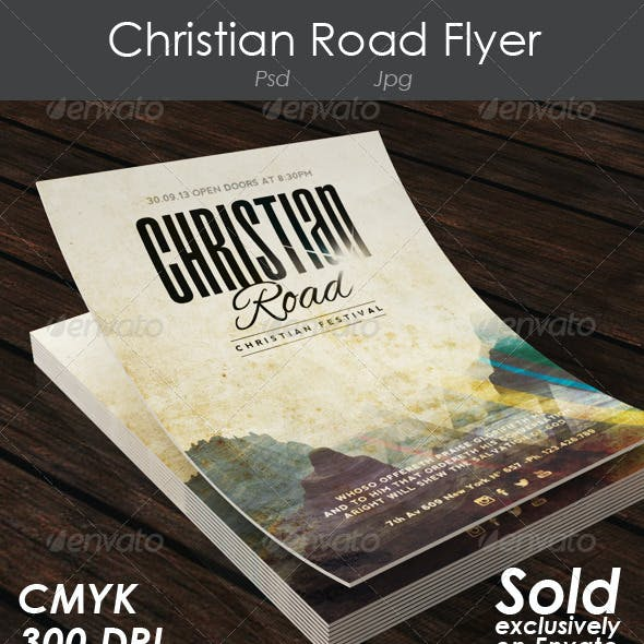 Christian Road Flyer Event