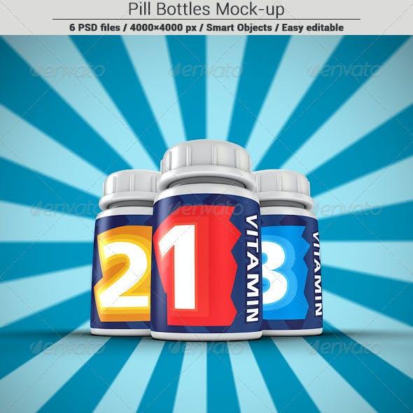 Pill Bottles Mock-up