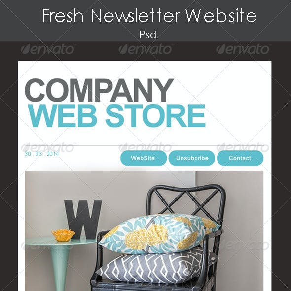 Fresh Website Newsletter