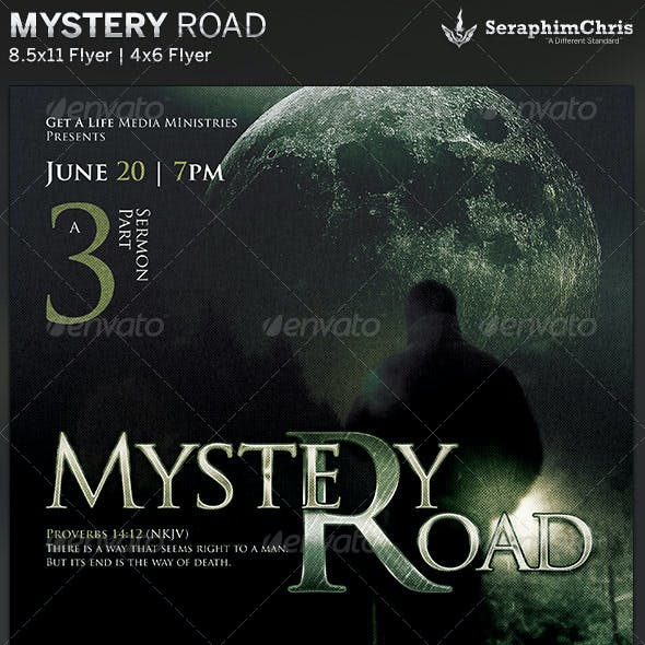 Mystery Road: Church Flyer Template