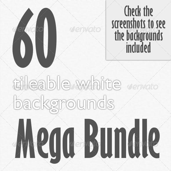 60 Tileable White Backgrounds Bundle