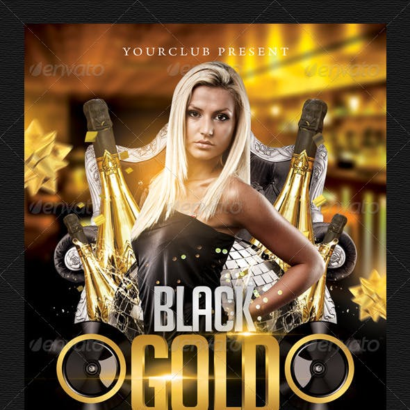 Black Gold Flyer Template