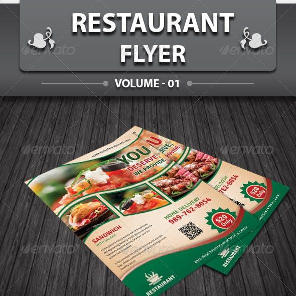 Restaurant Business Flyer | Volume 1