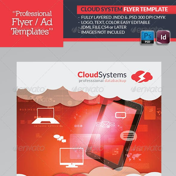 Cloud Systems Flyer Template