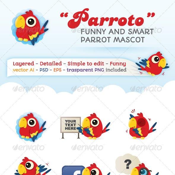Parroto - Web Parrot Mascot