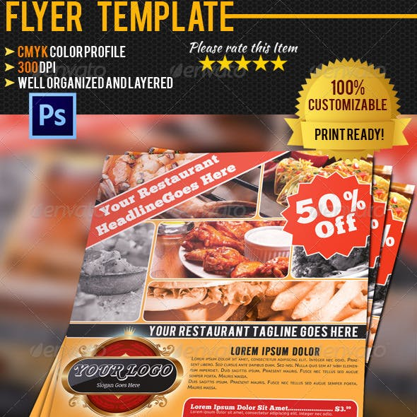 Code Clean And Template Restaurant Flyer Templates