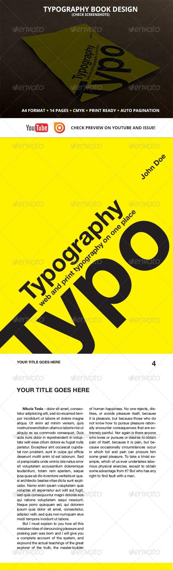 Typography book design - Print Templates