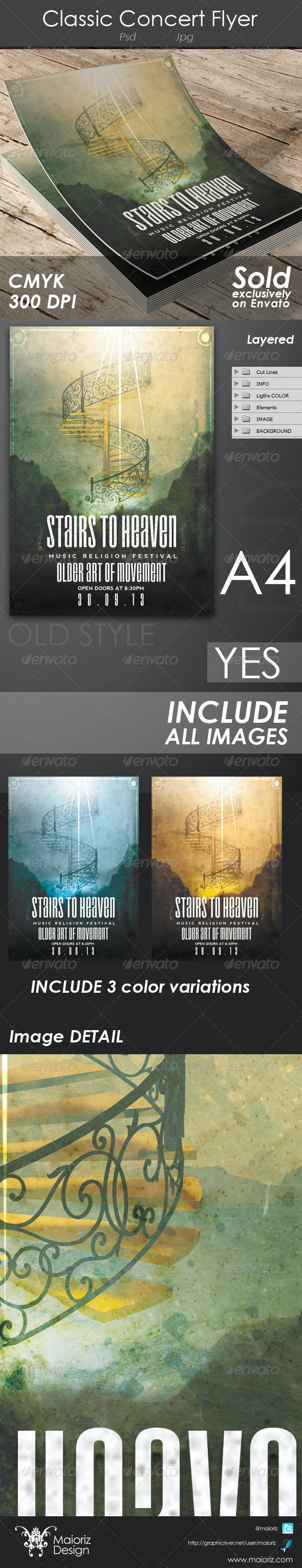 Heaven Stairs Christian Flyer - Church Flyers