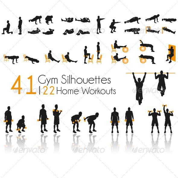 41 Gym Silhouettes Home Workouts