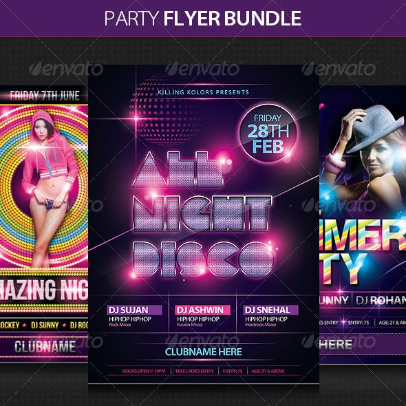 Night Club Flyer Bundle