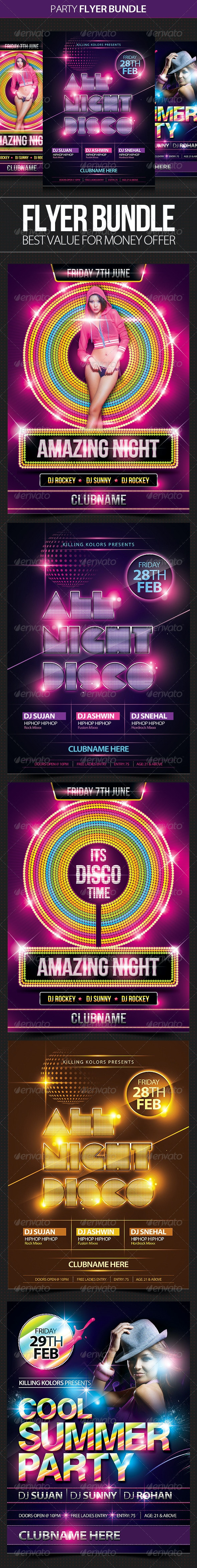 Night Club Flyer Bundle - Clubs & Parties Events