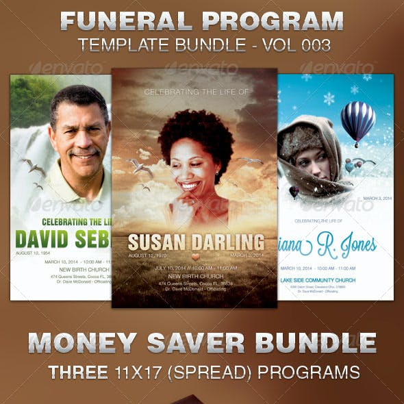 Funeral Program Template Bundle-Vol 003