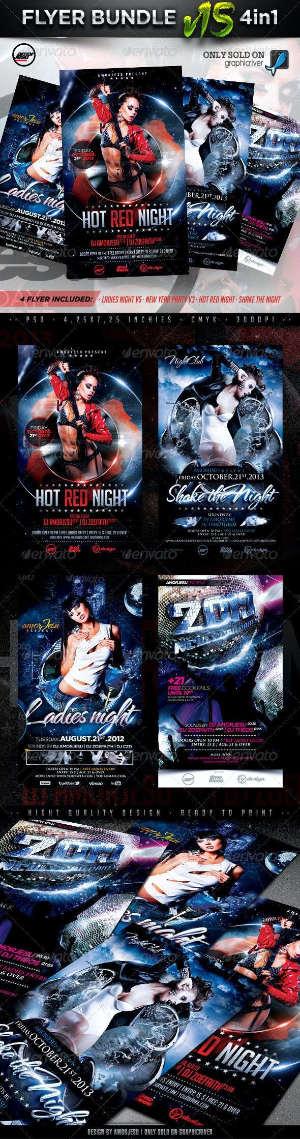 Flyer Bundle Vol15 - 4 in 1 - Clubs & Parties Events