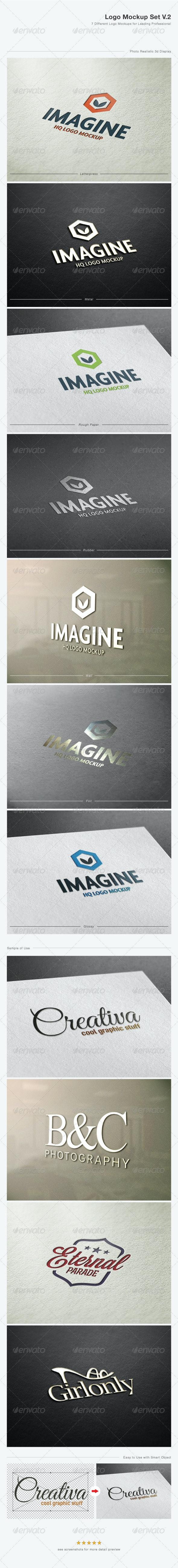 Logo Mock-Up Set V.2 - Logo Product Mock-Ups