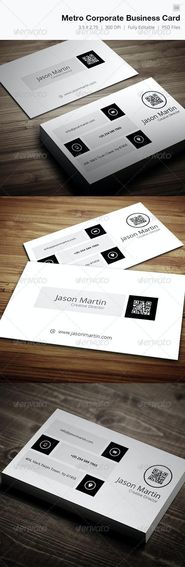 Metro Corporate Business Card - 08 - Corporate Business Cards