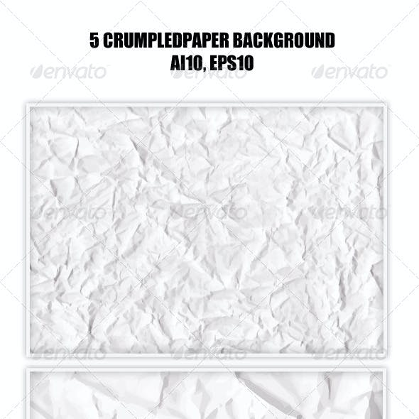 5 Crumpled Paper Backgrounds