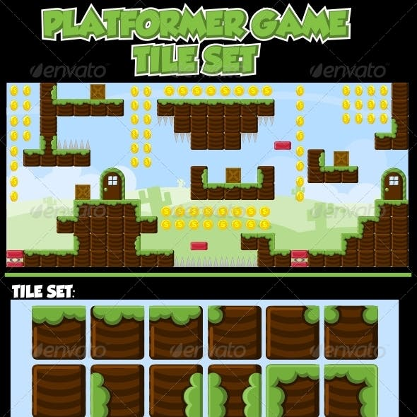 Platformer Game Tile Set
