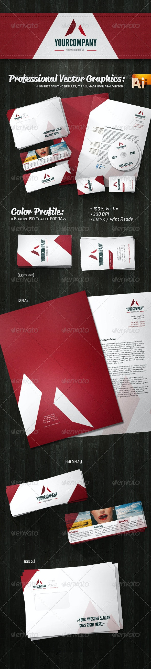 Professional Creative Agency Corporate Identity - Stationery Print Templates