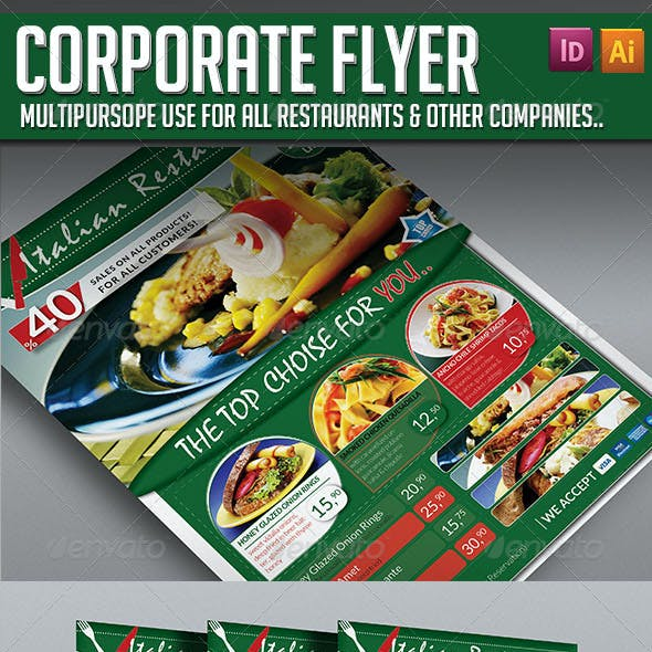 Corporate Flyer - Elegant Restaurant
