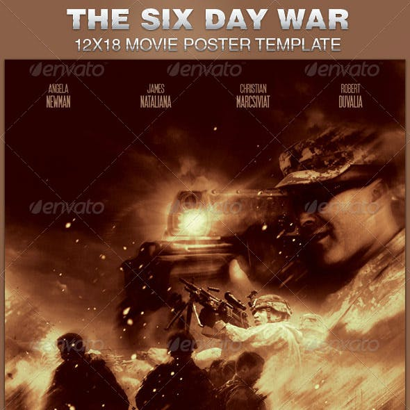 Six-Day War Movie Poster Template