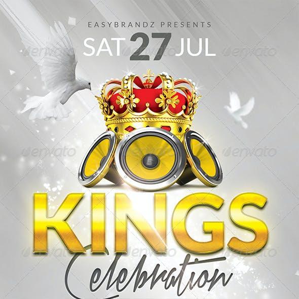 Kings Celebration Flyer Template